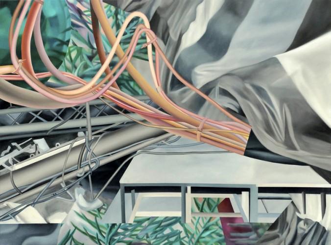 Būties ir nebūties apmąstymai / Reflections on Being and Nothingness, 2020. Al., dr., 150x2000 cm